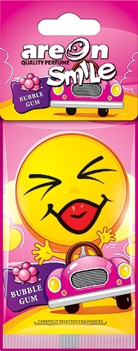Areon Air Freshener Smile Dry Bubble Gum Cardbaord