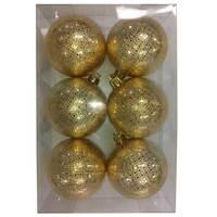 Balls Set 6Pcs 6Cm Golden Sun