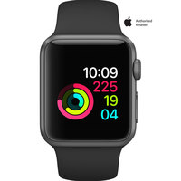 Apple Watch Series-1 38mm Space Gray Aluminium Case With Black Sport Band