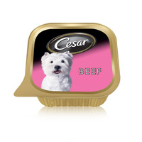 Cesar® Beef Wet Dog Food Can Foil Tray 100g