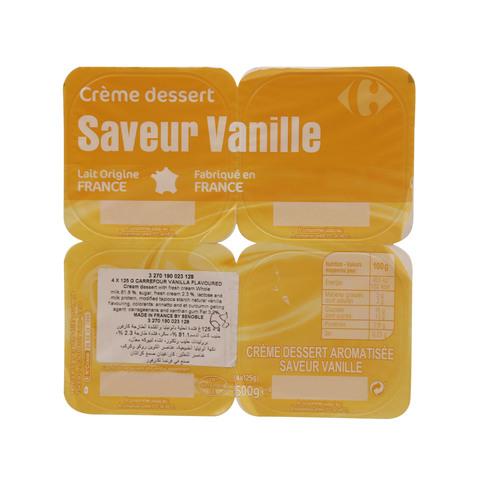 Carrefour-Vanilla-Flavoured-Cream-Dessert-125g-x-4
