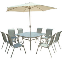 Paradiso Patio Set Atlas Square 8Persons (Delivered In 7 Business Days)