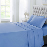 Tendance's Fitted Sheet Double Aqua Blue 137X193