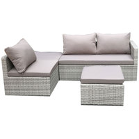 Laguna Wicker Corner With Storage Set 4Pcs (Delivered In 7 Business Days)