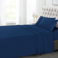 Tendance's Fitted Sheet Double Dark Blue 137X193