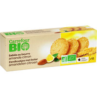 Carrefour Bio Organic Cookies With Almond and Lemon 200g