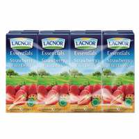 Lacnor Essentials Strawberry Fruit Drink 180mlx8