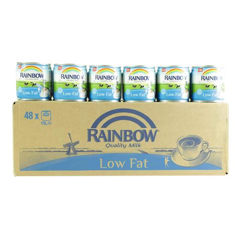 Rainbow-Evaporated-Milk-Low-Fat-170g-x48