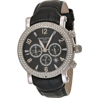 Mount Royale Women's Watch Black Dial Leather Band Sport-7Q22