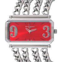 Mount Royale Women's Watch Red Dial Stainless Steel Band-8Q14 MT