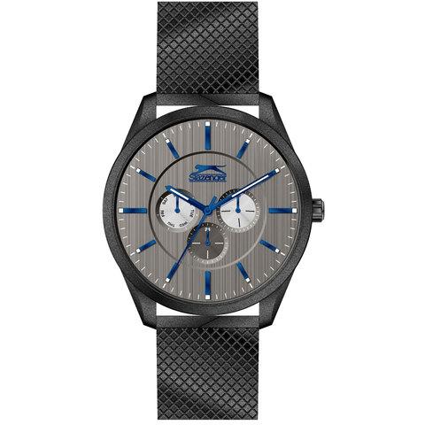 Slazenger-Men's-Analog-Display-Grey-Dial-Black-Stainless-Steel-Bracelet---SL.9.6003.2.02