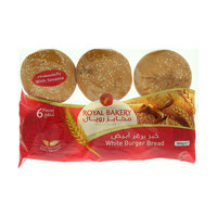 International Royal Bakery White Burger Bread 360g