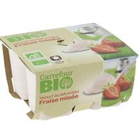 Carrefour Bio Organic Strawberry Yogurt 125gx4