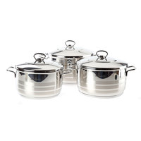 Korkmaz Astra Stainless Steel Cookware Set With Lid Size 22+24+26Cm
