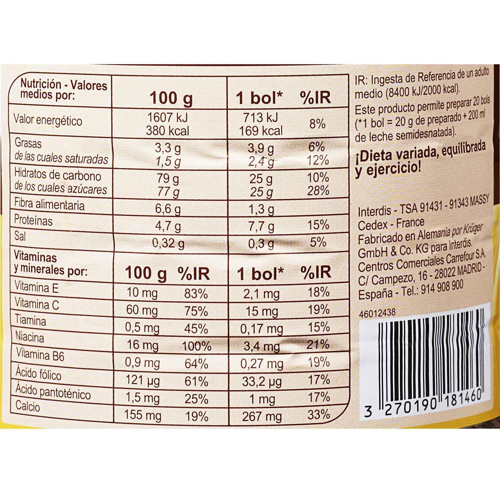 CRF CHOCO DRINK GRANULES 400GR