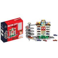 Power Joy Vroom Motor City Garage With 4Cars Assorted