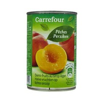 Carrefour Peach Halves In Light Syrup 412GR 4/4