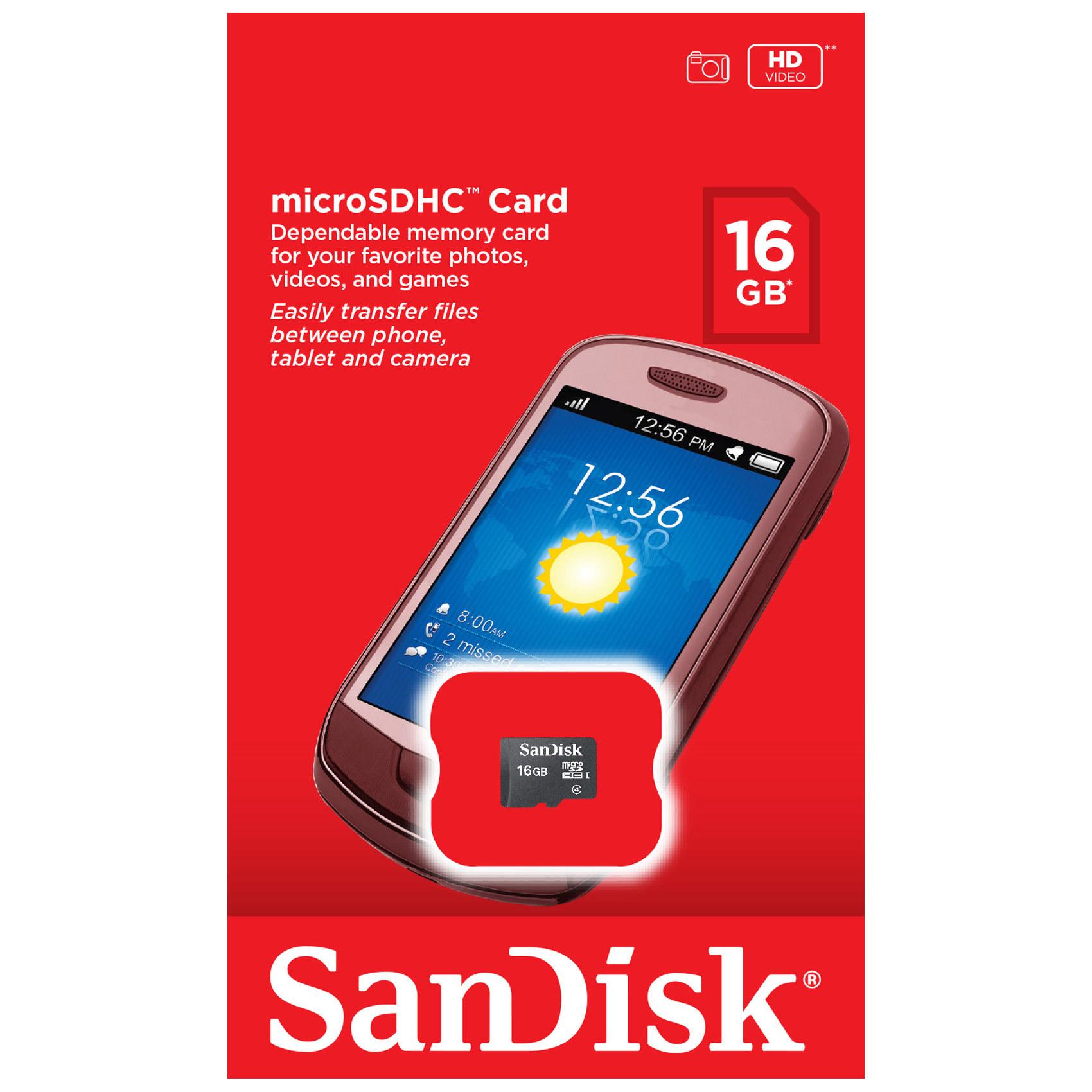SANDISK MIC SD 16GB C4