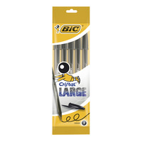 Bic Crystal Ball Pen 1.6 Mm Tip Black Pack Of 5 Pieces Black