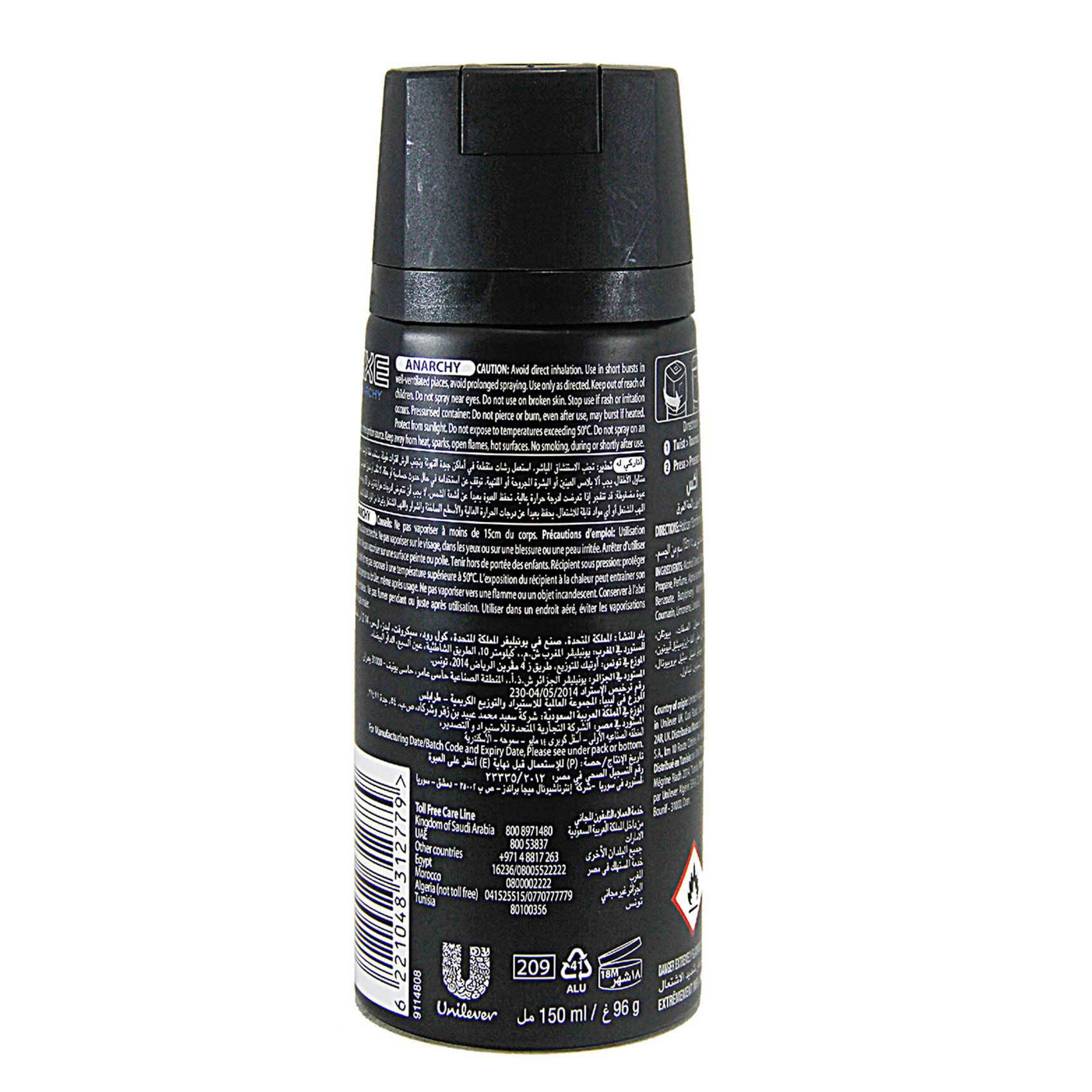 AXE AERO ANARCHY FOR HIM 150 ML