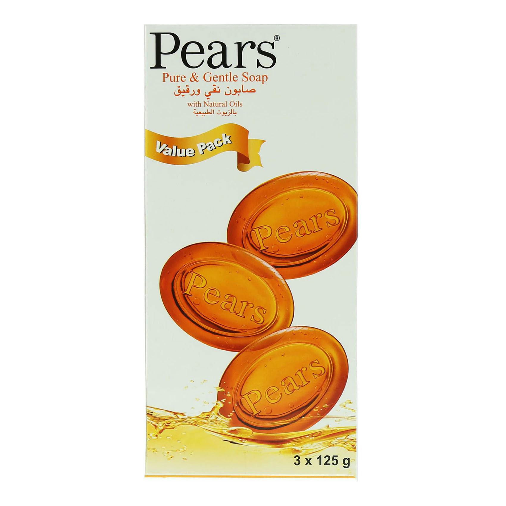 PEARS SOAP TRANSPARENT 125GX3
