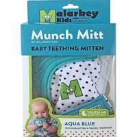 Munch Mitt Baby Teething Mitten - Aqua Blue