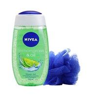 Nivea Shower Gel Lemon Oil 250ML + Puff Free