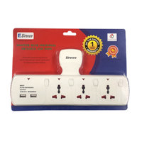 Extn Sockets 3Way With 2Usb