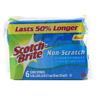 Scotch Brite Non Scratch Scrub 6 Sponges