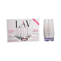 Lav Coral Adora Tumbler 390 Ml 6 Pieces
