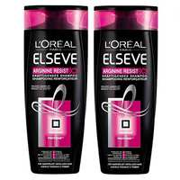 L'OREAL Elvive Shampoo Arginine Resist 3x Reinforcing 400 Ml 2 Pieces