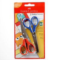 Faber-Castell 3 Student Scissors Blister Card