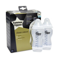 Tommee Tippee Closer To Nature Feeding Bottles 340ML X2 3 Months+