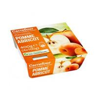 Carrefour Dessert Mashed Apple & Apricot 100GR X 4