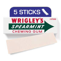 Wrigley's Spearmint Gum, 5 sticks