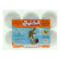 Khaleej Farm Fresh White Large Eggs x6