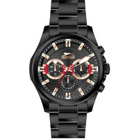 Slazenger Men's Multifunction Display Black Dial Black Stainless Steel Bracelet - SL.9.6023.2.03