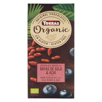 Torras Organic Dark Chocolate Goji & Acai 100g
