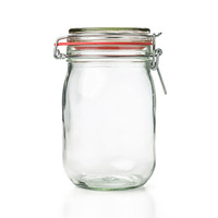 Glass Cannister With Metal Wir Lock 1000ML