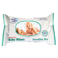 Cool & Cool Sensitive Plus Baby Wipes 64 Wipes