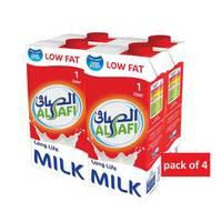 Al Safi low fat long life milk 1L x 4