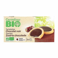 Carrefour Bio Organic Tart Biscuit Dark Chocolate 125g