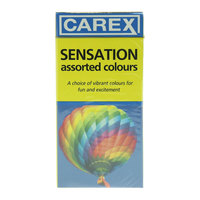 Carex Sensation Assorted Colours 12 Condoms