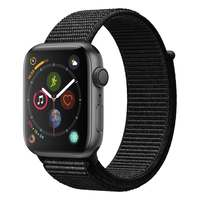 Apple Watch Series-4 GPS 44mm Space Grey Aluminium Case with Black Sport Loop (MU6E2AE/A)