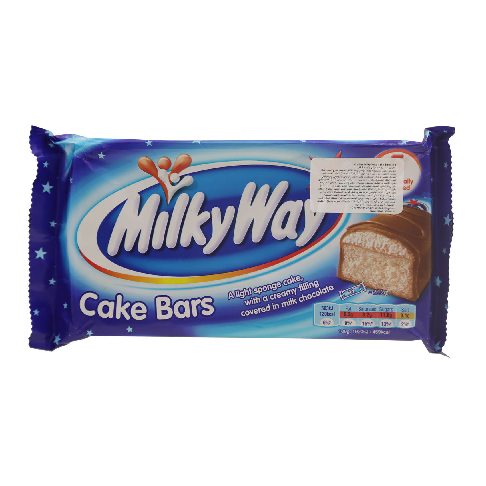 MCVITIES MILKYWAY CAKE BAR 170GX5