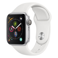 Apple Watch Series-4 GPS + Cellular 44mm Silver Aluminium Case with White Sport Band (MTVR2AE/A)