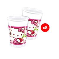 Sanrio Hello Kitty Heart Plastic Cups 200ML 8 Pieces