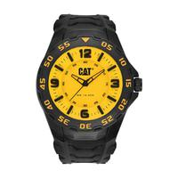 CAT Men's Watch Motion Analog Yellow Dial Black Fabric / Rubber Band 45.5mm  Case