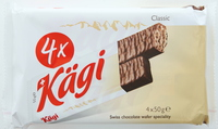 Kagi Swiss Chocolate Wafer 50gx4