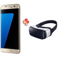 Samsung Smartphone Galaxy S7 Edge 32GB Dual SIM 4G Gold + Samsung Gear VR